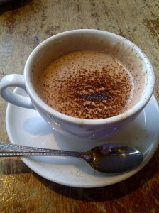 Valrhona Hot Chocolate from The Grand Cafe in Oxford