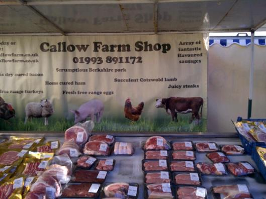 One of several farm shops at the market. You can also buy locally raised trout and venison.