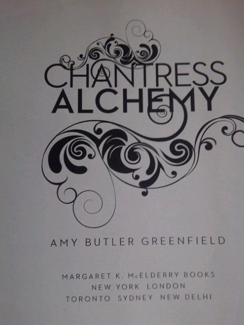 Title page of Chantress Alchemy